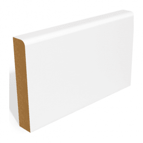 MDF 25mm x 75mm Pre-Primed Pencil Round Edge Skirting Board