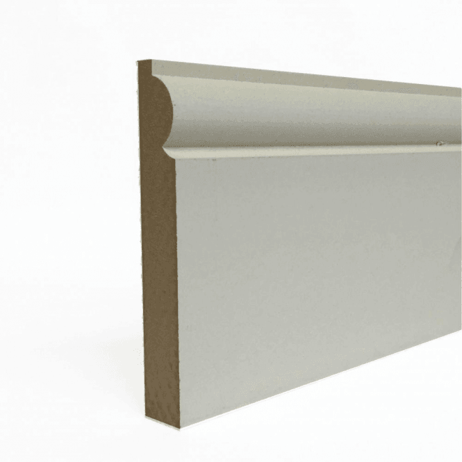 GW Leader MDF 25mm x 75mm Pre-Primed Torus Skirting Board