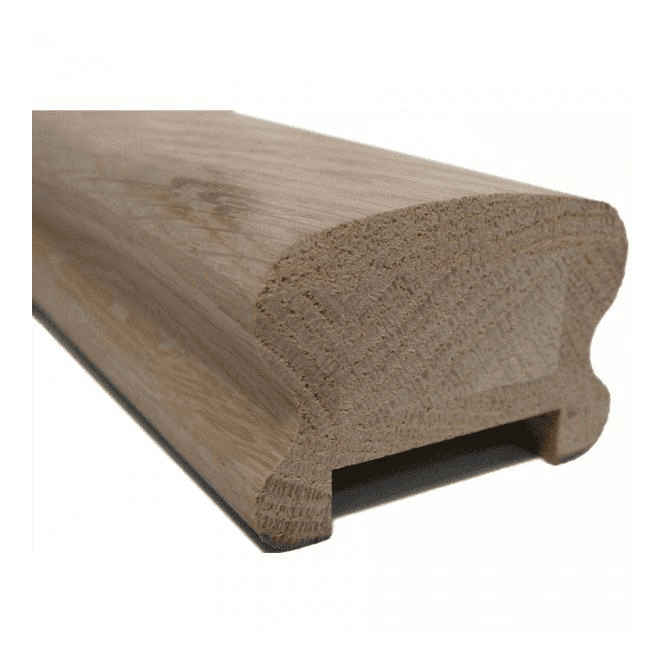 GW Leader Oak Breadloaf Handrail for 41mm Spindles