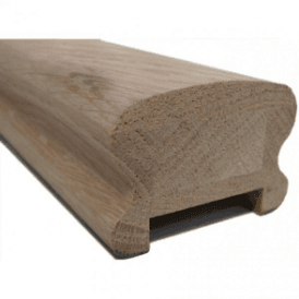 Oak Breadloaf Handrail for 41mm Spindles