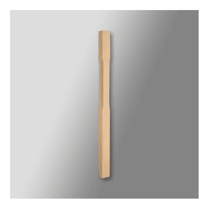 GW Leader Oak Stop Chamfered Newel Post with Pyramid Cap 1500mm