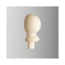 Pine Newel Post Ball Half Cap