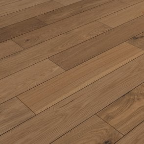 Premier Click 14mm x 125mm Oak Brushed & Matt Lacquered Engineered Real Wood Flooring