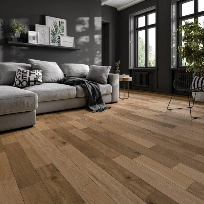 GW Leader Premier Floor 14mm x 125mm Oak UV Oiled Engineered Real Wood Flooring