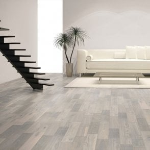 Premier Floor 14mm x 125mm White Stone Oak Matt Lacquered Engineered Real Wood Flooring