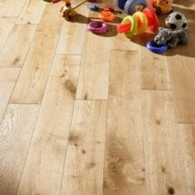 Premier Floor 18mm x 150mm Oak Brushed & UV Oiled Solid Wood Flooring