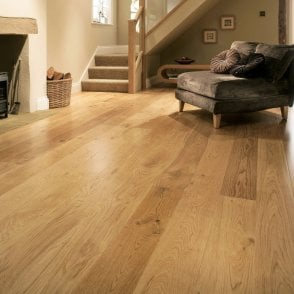 Premier Floor 18mm x 150mm Oak UV Lacquered Solid Wood Flooring