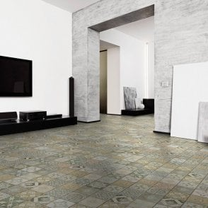 Premier Floor Aurora 8mm Ornate Botannical Tile Laminate Flooring