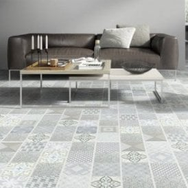 Premier Floor Aurora 8mm Ornate Sonata Tile Laminate Flooring
