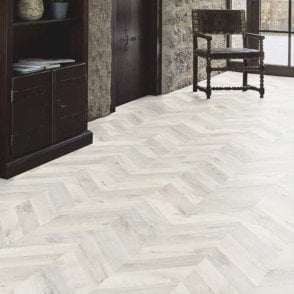 Premier Floor Chevron Parquet 8mm Scandi Oak Laminate Flooring