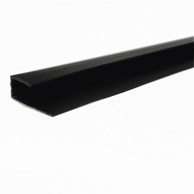GW Leader PVC Black Plastic Cladding End Cap 2700mm