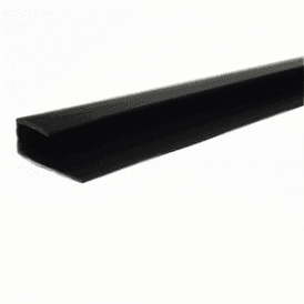 PVC Black Plastic Cladding End Cap 2700mm