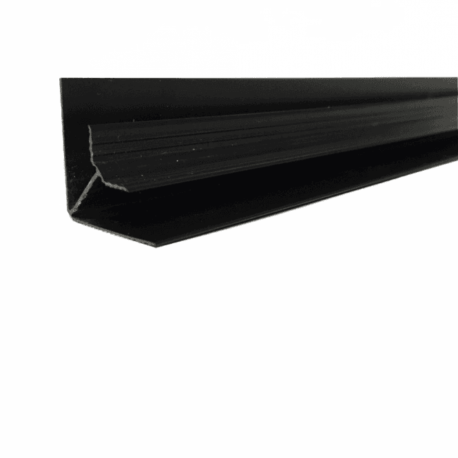 GW Leader PVC Black Plastic Cladding Internal Corner 2700mm