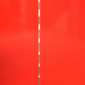 PVC Plastic Cladding 200mm x 2700mm Red with Silver Strip