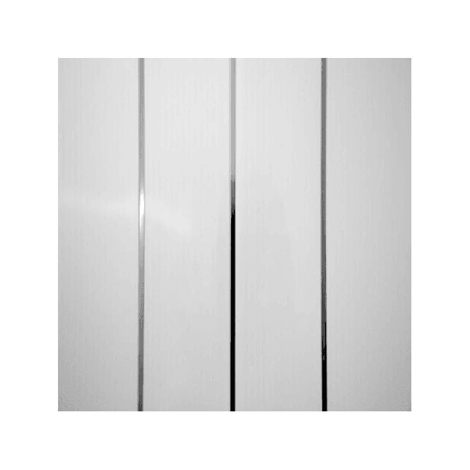 GW Leader PVC Plastic Cladding 200mm x 2700mm White with Twin Silver Strip