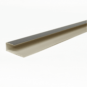 PVC Silver Plastic Cladding End Cap 2700mm