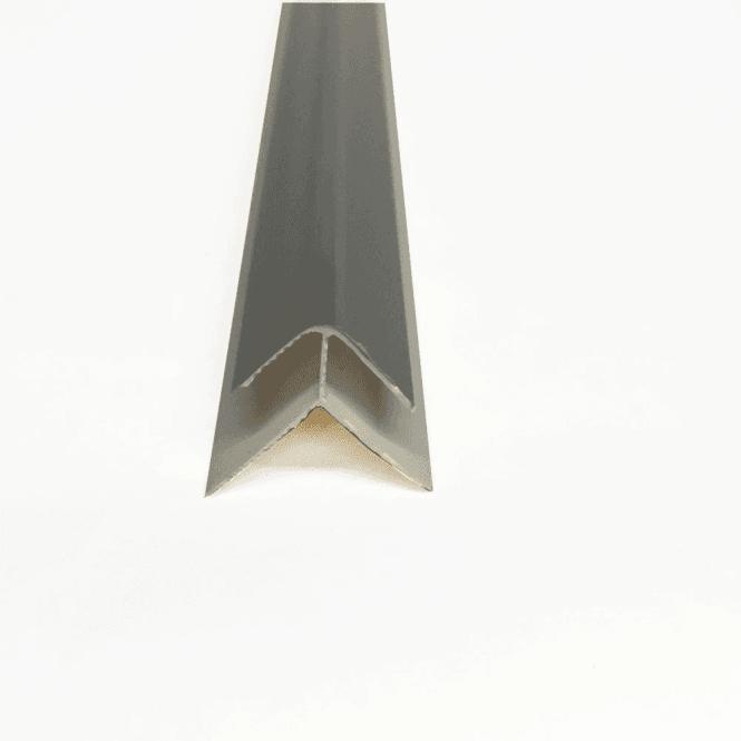 GW Leader PVC Silver Plastic Cladding External Corner 2700mm