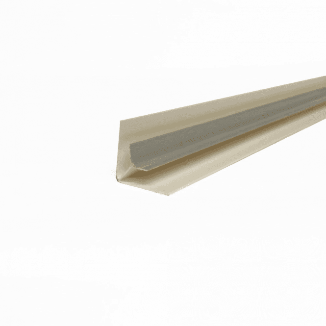 GW Leader PVC Silver Plastic Cladding Internal Corner 2700mm