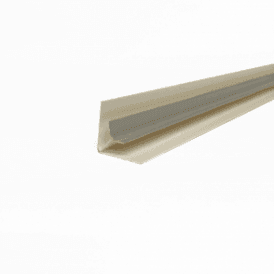PVC Silver Plastic Cladding Internal Corner 2700mm