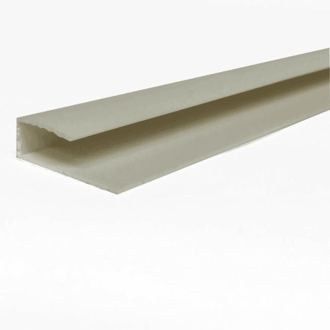 GW Leader PVC White Plastic Cladding End Cap 2700mm