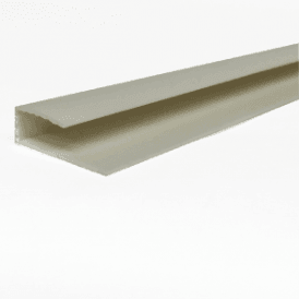 PVC White Plastic Cladding End Cap 2700mm