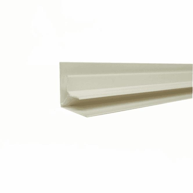 GW Leader PVC White Plastic Cladding Internal Corner 2700mm
