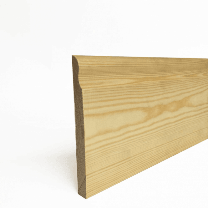 GW Leader Redwood 18mm x 150mm Lambs Tongue Skirting Board