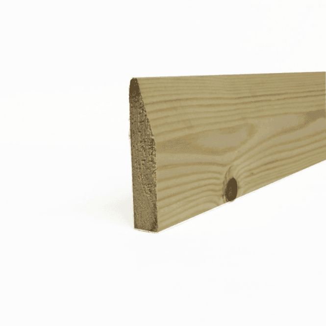 GW Leader Redwood 18mm x 75mm Chamfered Skirting Board