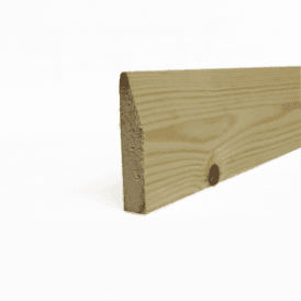 Redwood 18mm x 75mm Chamfered Skirting Board