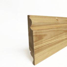 Redwood 25mm x 125mm Dual Purpose Torus/Ogee Skirting Board