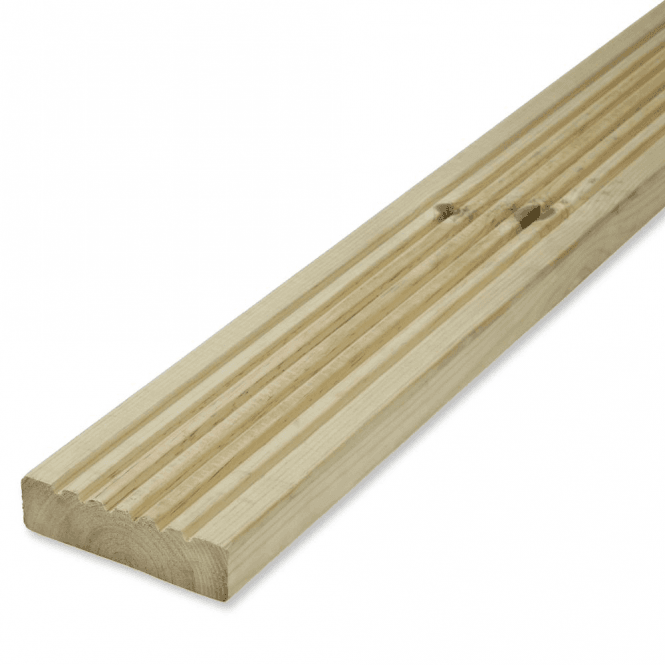 GW Leader Redwood Treated Green Decking Board 125mm x 32mm