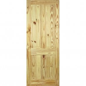 Unfinished Internal Knotty Pine 4 Panel Door
