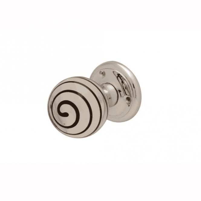 Intelligent Hardware Black Swirl Glass Mortice Knob Door Handle