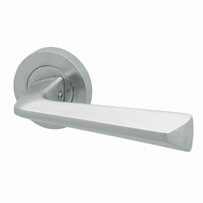 Intelligent Hardware Blade Satin Chrome Finish Round Rose Lever Door Handle