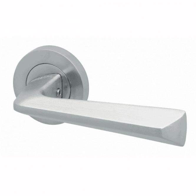 Intelligent Hardware Blade Satin Chrome Finish Round Rose Lever Door Handle