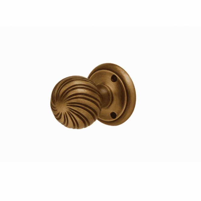 Intelligent Hardware Bronze Swirl Mortice Knob Door Handle