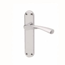 E-Zeta Chrome Plated Backplate Lever Door Handle