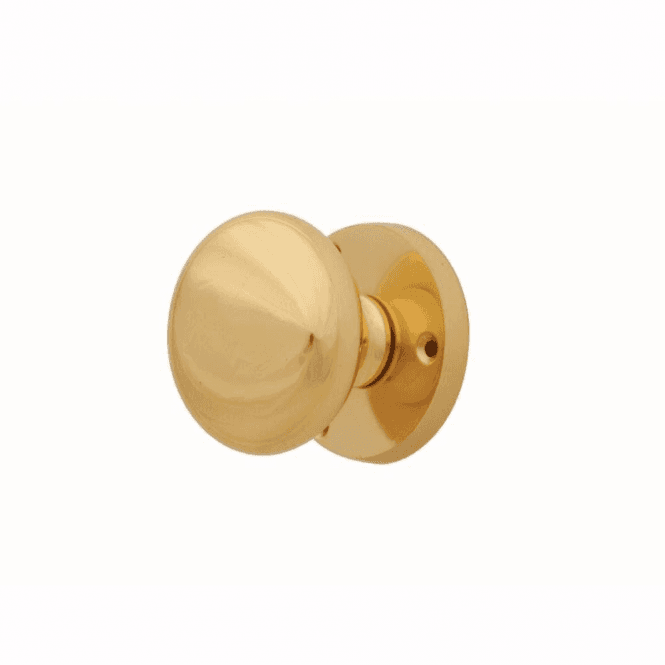 Intelligent Hardware Mushroom Polished Brass Mortice Knob Door Handle