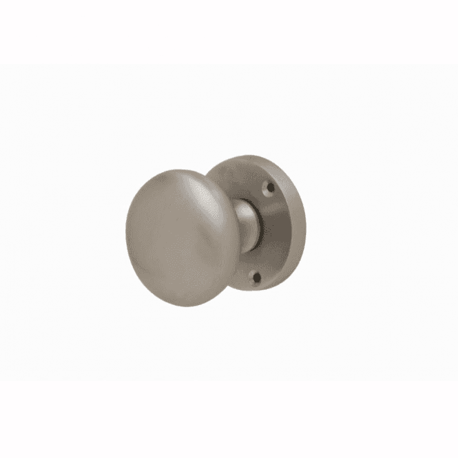 Intelligent Hardware Mushroom Satin Chrome Mortice Knob Door Handle