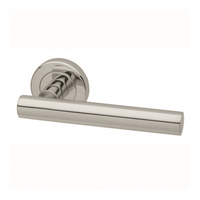 Intelligent Hardware Nevis Round Rose Polished Stainless Steel Lever Door Handle