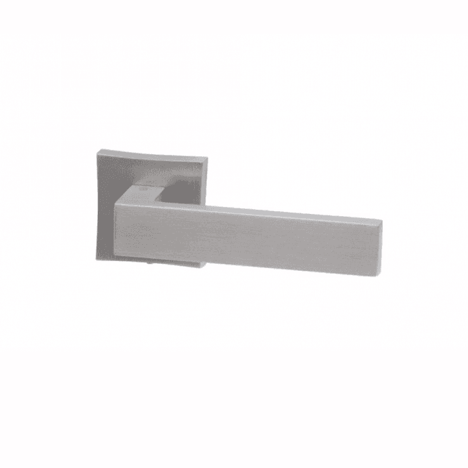 Intelligent Hardware Oro Satin Chrome Finish Square Rose Lever Door Handle