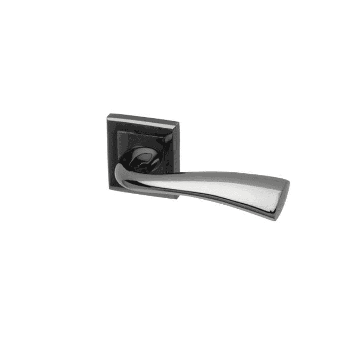 Intelligent Hardware Scimitar Square Rose Black Nickel Lever Door Handle