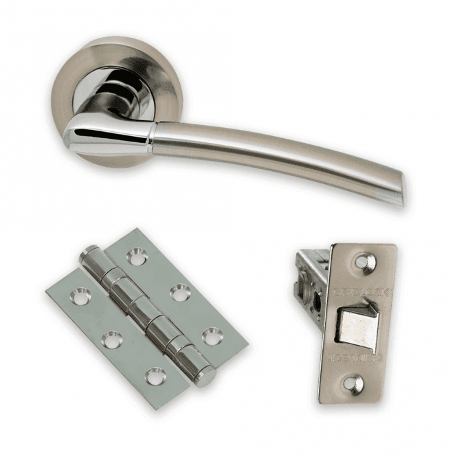Intelligent Hardware The Developer Falcon Polished Chrome & Satin Nickel Door Handle Pack