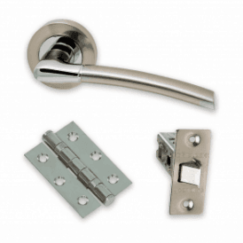 The Developer Falcon Polished Chrome & Satin Nickel Door Handle Pack