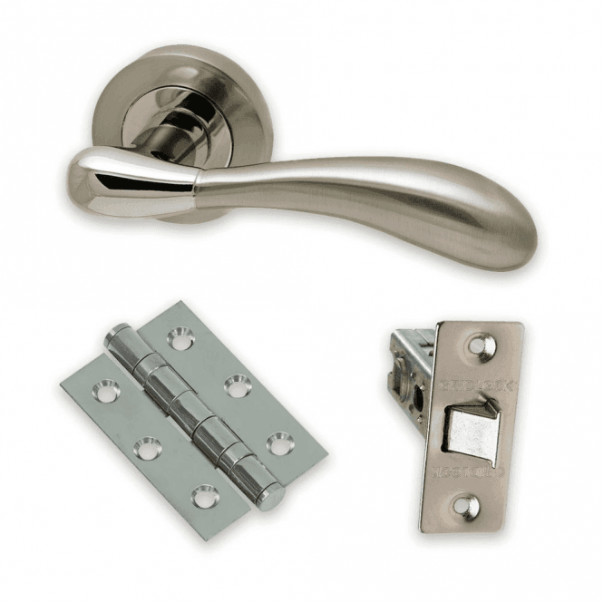 Intelligent Hardware The Developer Hornet Polished Chrome & Satin Nickel Door Handle Pack