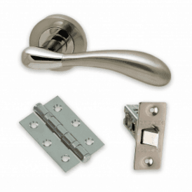 The Developer Hornet Polished Chrome & Satin Nickel Door Handle Pack