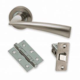 The Developer Phantom Polished Chrome & Satin Nickel Door Handle Pack