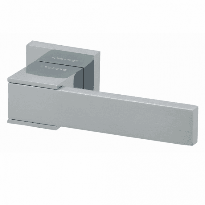 Intelligent Hardware Tivoli Square Rose Dual Finish Lever Door Handle