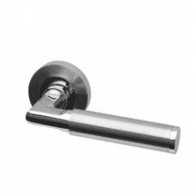 Topaz Round Rose Dual Finish Lever Door Handle