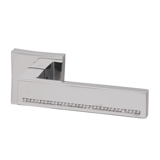 Intelligent Hardware Zircon Square Polished Chrome Finish Lever Door Handle